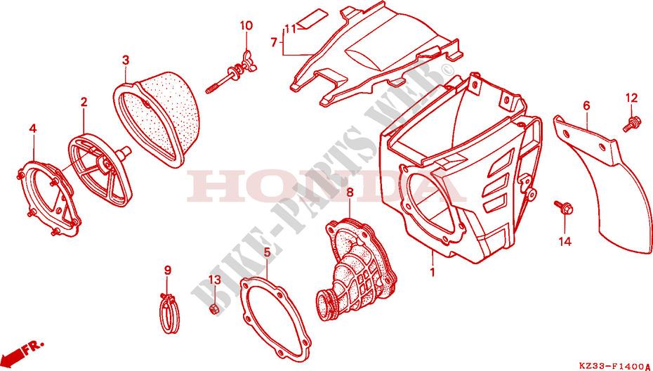 Zap Filtro Dell/'aria Copertura di lavaggio Si Adatta A Honda CR 89-07; GASGAS MC EC 94-06