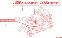 EMBLEMA/MARCHIO(FJS400D8) Chassis 400 honda-motocicli SILVERWING 2008 F__3400