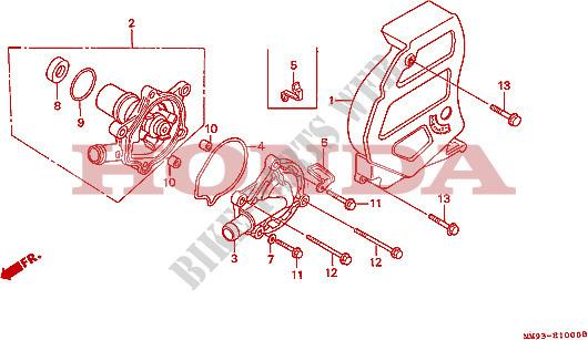 Pompa Acqua Motore Xl600vk 1989 Transalp 600 Moto Honda Motocicli