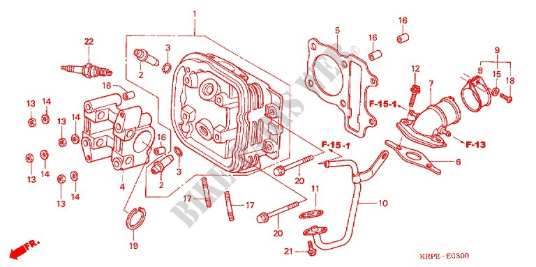 Cilindro Testata Motore Scv1003 2003 Lead 100 Scooter Honda