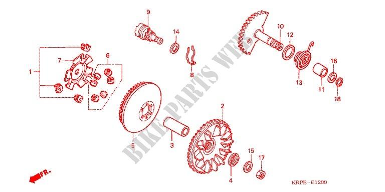 Faccia Avviamento Asse Avviatore A Tiro Motore Scv1003 2004 Lead 100